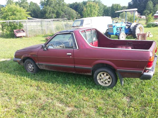 1985 subaru brat gl v4 manual for sale in austin texas. Black Bedroom Furniture Sets. Home Design Ideas