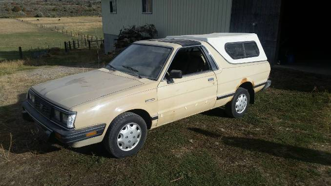 1986 subaru brat gl 4x4 manual for sale in island park idaho. Black Bedroom Furniture Sets. Home Design Ideas